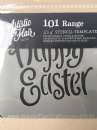"Artistic Flair, Craft Stencil 101 Range - (4"" x 4"") - Happy Easter"